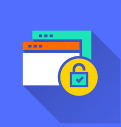 Data security - icon for graphic and web vector