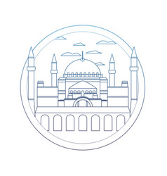 degraded line taj mahal in india and nice vector image