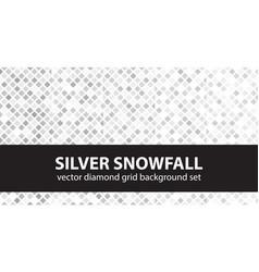 diamond pattern set silver snowfall seamless vector image