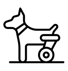 Dog hind legs trolley icon outline style vector