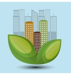 eco town design environment icon vector image