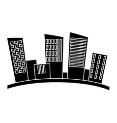 edifice building isolated vector image