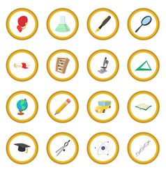 education cartoon icon circle vector image