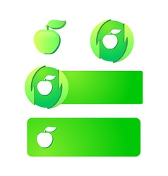 Emblems and Signs with apple vector