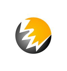 Energy power icon bolt vector