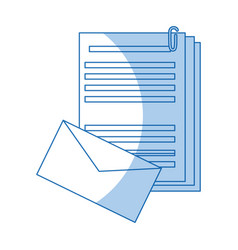 Envelope document paper files office supplies vector