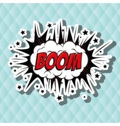 explosion pop art design vector image