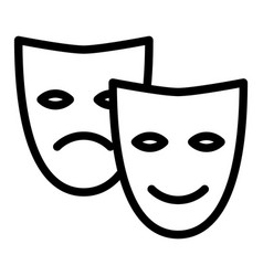facial mask line icon school theater vector image