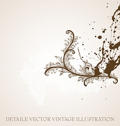 Filigree Background Design vector