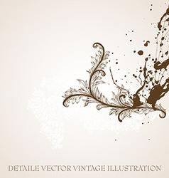 Filigree background design vector