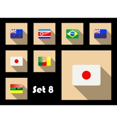 Flat icon of flags vector image