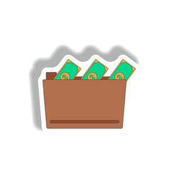 folder and cash in paper vector image