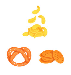 Food and crunchy icon set vector