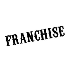 franchise rubber stamp vector image