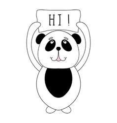 Funny panda bear children animal for book t-shirt vector