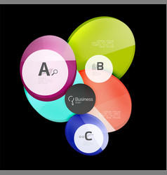 glass circles on black vector image