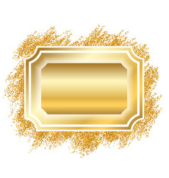 gold frame beautiful golden glitter design vector image