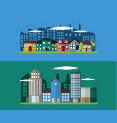 green city concept vector image