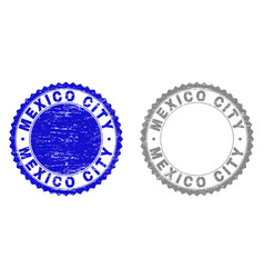 Grunge mexico city scratched stamps vector