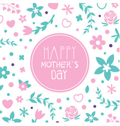 happy mothers day banner template with spring vector image