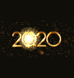Happy new year banner with firework design vector