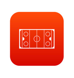 Ice hockey rink icon digital red vector