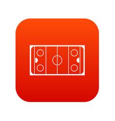 ice hockey rink icon digital red vector image