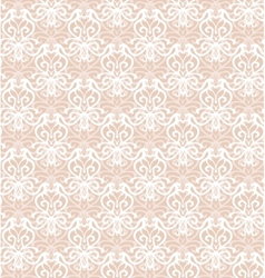 Intricate White Luxury Seamless Pattern on Pink vector