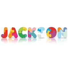 JACKSON written with alphabet puzzle vector