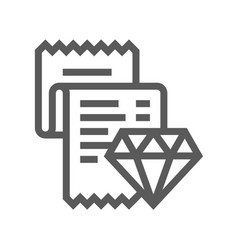 jewelry flat line icon 48x48 pixels vector image