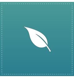 Leaf flat icon vector