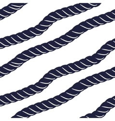 Marine navy blue rope seamless pattern vector