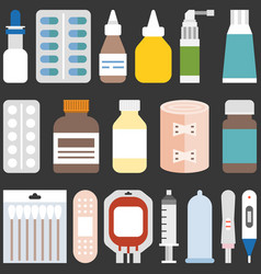 medicine collection set 1 vector image
