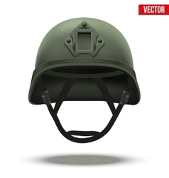 Military tactical helmet green color vector image