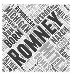 Mitt Romney Republican Word Cloud Concept vector