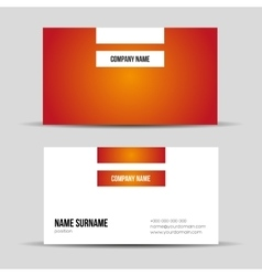 Modern red business card template vector image