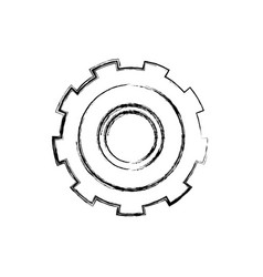 Monochrome blurred silhouette of gear of wheel vector