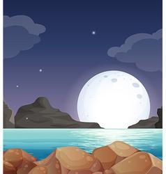 Moon landscape vector image