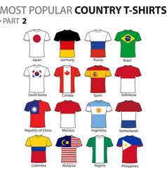 Most popular country t-shirts part 2 vector