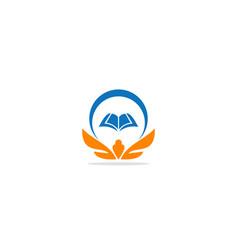 Open book education college logo vector