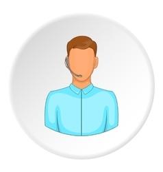 Operator icon flat style vector image