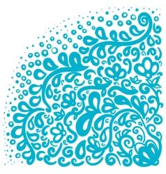 Ornament elements in blue and white colors vector image