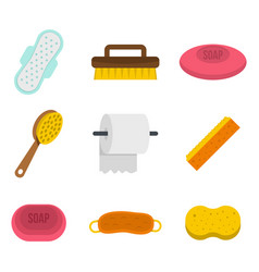 Personal hygiene icon set flat style vector