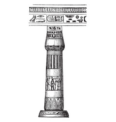 Pillar and beam horizontal vintage engraving vector