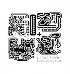 printed circuit board vector image