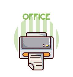 Printer office element vector