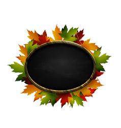 realistic of autumn chalk board vector image