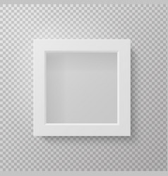 Realistic picture frame front view square empty vector