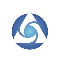 Round circle media technology abstract logo vector