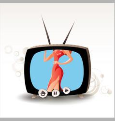 Sexy tv 08 vector
